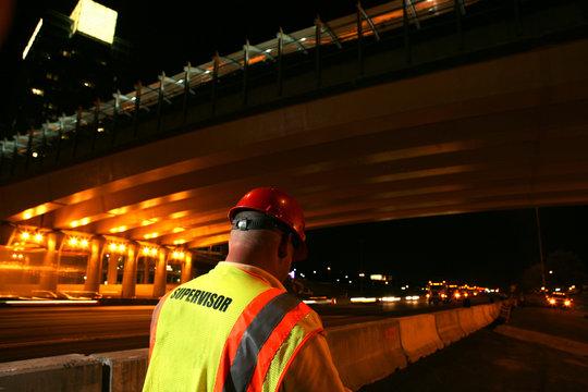Road construction crew supervisor