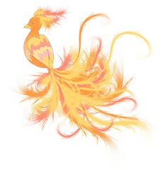 Fire fairy bird