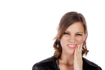 Frau mit Zahnschmerzen II