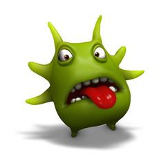 Spoed Fotobehang Sweet Monsters virus
