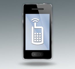 Smart Phone with Cell Phone Symbol