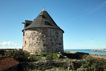 Historic watchtower on the island of christianso