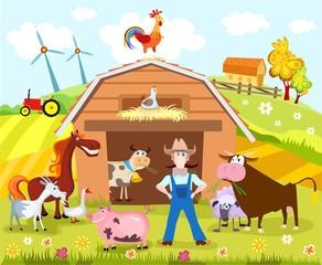 Poster Ranch farm