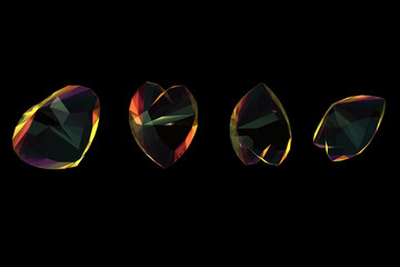 Brilliants shape of heart