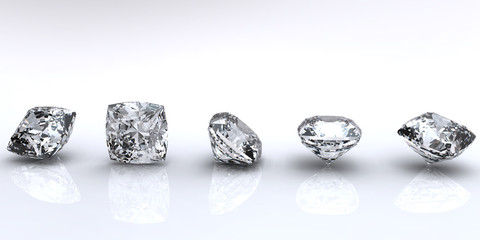 Jewelry gems shape of square