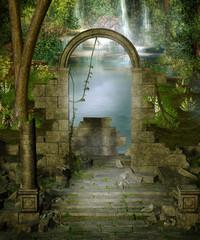 Ruiny w dżungli