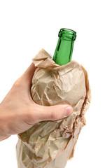 bottle in paper bag