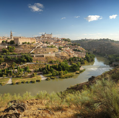 panoramic view of Toledo in Spain