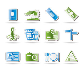 Simple Travel and trip Icons- Vector Icon Set