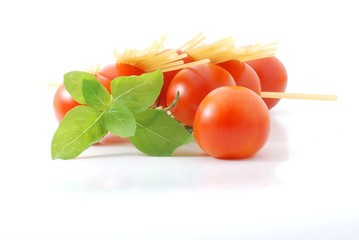 Tomaten,Spaghetti,Basilikum