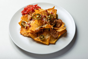 mexican food nachos salsa