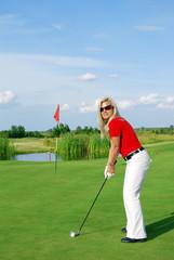 girl golf player