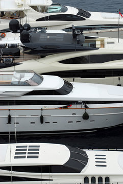 Luxury yachts docked in Monte Carlo