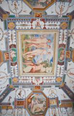 Corgna Palace Ceiling Fresco. Castiglione del Lago. Umbria.