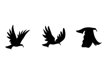 Vector illustration of bird silhouette