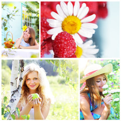 Collage on theme of the summer