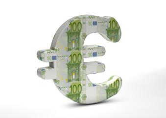 Eurozeichen hundert Euro