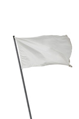 White flag isolated