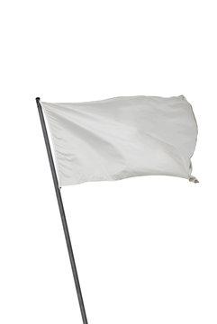 White flag isolated