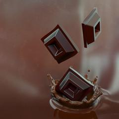 Pioggia di cubetti di cioccolato