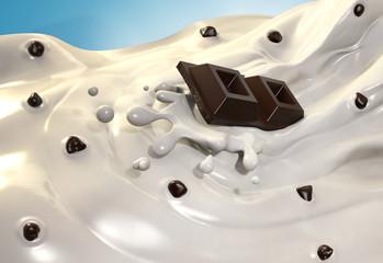 Crema di latte e cioccolato