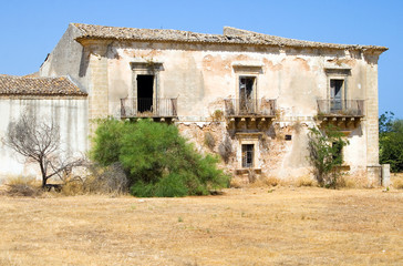 Wall Mural - Old home in the interior Sicily country