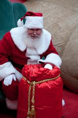 Santas toy gift bag
