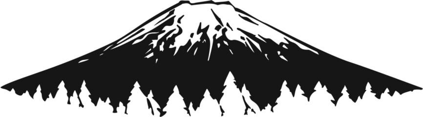 Mountain Vinyl Ready Vector Illustration