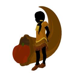 American Indian Art Illustration Silhouette