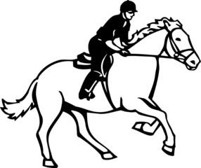 Horse and Rider Vinyl Ready Vector Illustration