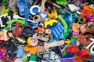 Old forgotten broken  toys