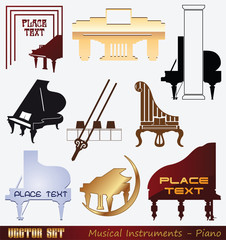 Vector set: Musical Instrument - Piano