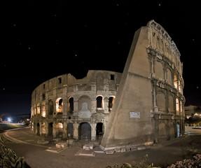 Panoramic shoot of Coliseum