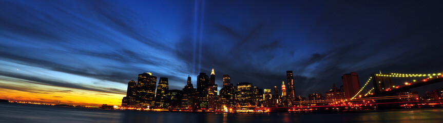 9/11 Tribute in Light. 9/11/2010. New York City
