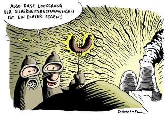 Atomdeal Lockerung der Sicherheitsbestimmungen