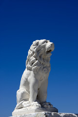 White lion at Santorini