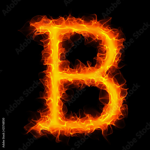 """Fire letter B beta"" Stock photo and royalty-free images ... Letter B Fire"