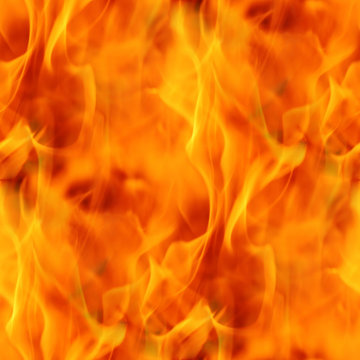 Fire Seamless Texture Tile from Photographic Original