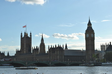 Big Ben and Parliament by the Thames, London, UK