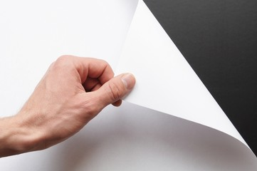 paper and hand