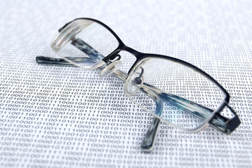 eyeglasses on binary system page