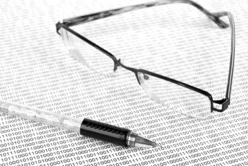 eyeglasses on binary system page