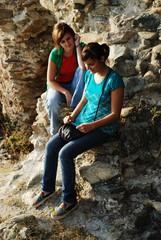 girls outdoors