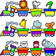 The train animals