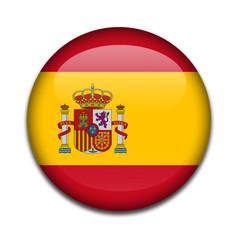 Chapa bandera de España con escudo