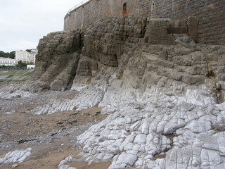rocks, beach
