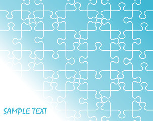 Jigsaw puzzle background with copy space - vector