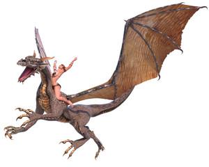 Papiers peints Dragons lady dragon hands up
