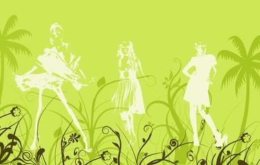 Fashion illustration in green