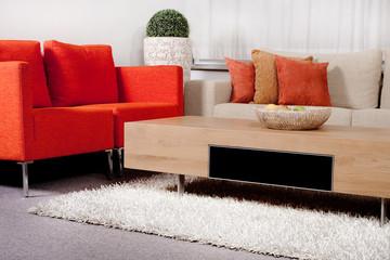 Modernized living room